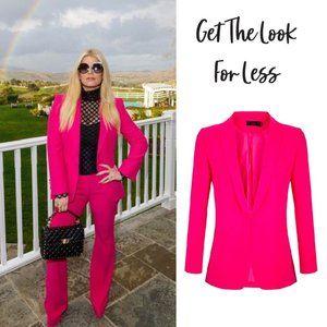 Jessica Simpson Hot Pink Blazer Jacket